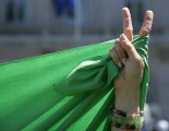 An Iranian protests the results of the 2009 election.
