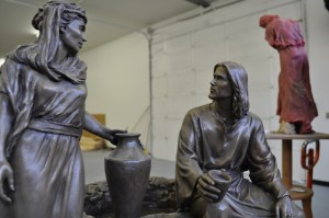 Angela Johnson's sculpture of the woman at the well.