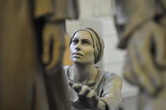Angela Johnson's sculpture of the woman with an issue of blood.