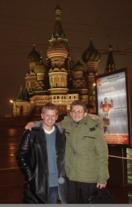 "Me and Vladimir, my ""Russian brother"" and one of my best friends."