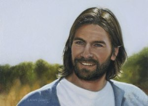 A image of the Savior painted by Liz Lemon Swindle.