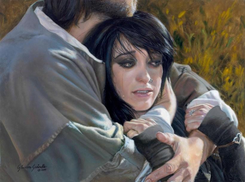 "Liz Lemon Swindle's painting of ""The Lost Sheep"""