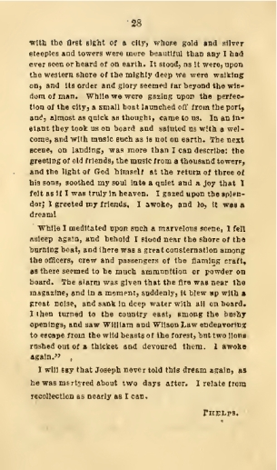 Page 2 of Joseph Smith's Last Dream, as told by W. W. Phelps.