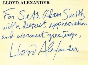 Lloyd Alexander Letter