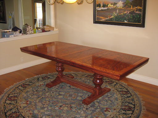 refinishing a solid oak dining table seth adam smith. Black Bedroom Furniture Sets. Home Design Ideas