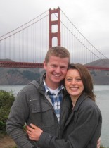 Kim and I in San Francisco...minutes before I proposed to her.