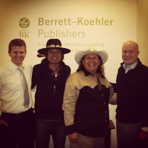 Me and the ANASAZI Crew (Lehi Sanchez, Ezekiel Sanchez, and Mike Merchant) at Berrett-Koehler Publishers.