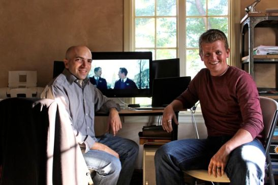 Garrett Batty and I (with a small portion of the film in the background).
