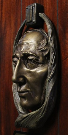 Jacob Marley door knocker.