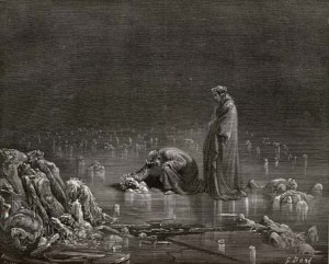 The frozen in Dante's Inferno