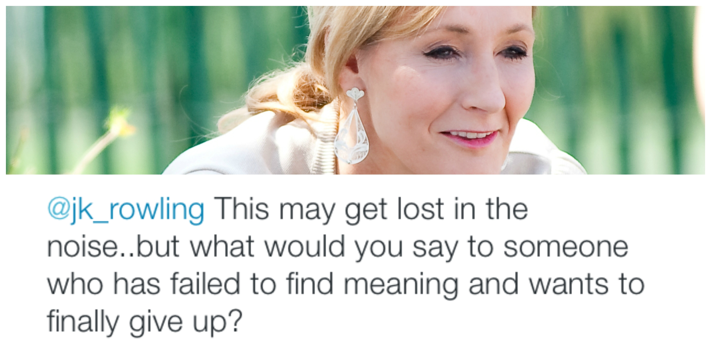 Did J.K. Rowling Just Prevent a Suicide?